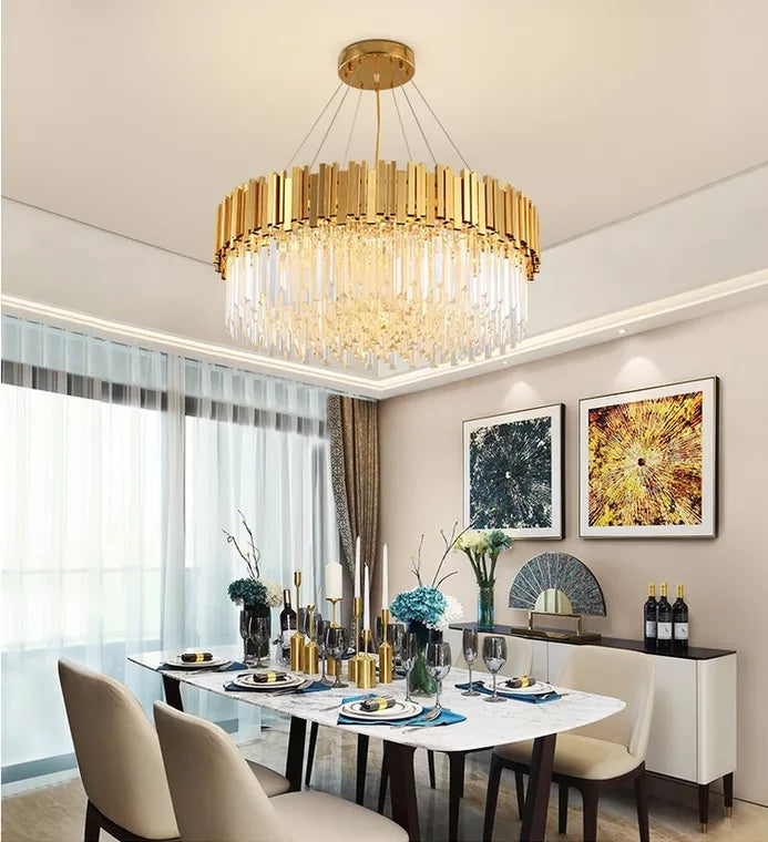 Luxurious Crystal Chandelier Ambient Light Painted 8 Light Living Room Glass Candle Style E12 E14