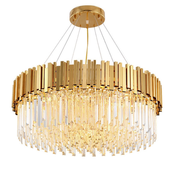 Luxurious Crystal Chandelier Ambient Light Painted 8-Light Living Room Glass Candle Style E12 / E14 - heparts