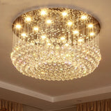 Luxurious Crystal D80cm Chandelier Downlight Electroplated Metal Crystal GU10 LED - heparts