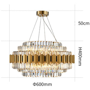 Luxury Crystal Chandelier Modern Suspension Pendant Light Elegant Ceiling Lamp Lighting Fixture for Living Dining Room E12-E14 ITEM1908