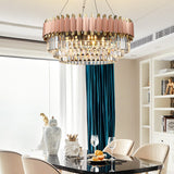 Luxury Crystal Chandelier Modern Suspension Pendant Light Elegant Ceiling Lamp Lighting Fixture for Living Dining Room E12-E14 ITEM1910