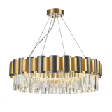 Luxury Crystal Chandelier Modern Suspension Pendant Light Elegant Ceiling Lamp Lighting Fixture for Living Dining Room E12-E14 ITEM2213