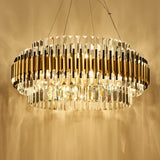 Luxury Crystal Chandelier Modern Suspension Pendant Light Elegant Ceiling Lamp Lighting Fixture for Living Dining Room E12-E14 ITEM2215
