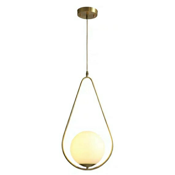 MC861B Milky white Glass Solid Copper Mini Pendant Lighting Vanity Lighting Bedroom