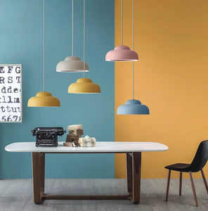 Macaroon Cloud Pendant Light Colorful Lights Ceiling Lamp Down light LED Integrated Warm white - heparts