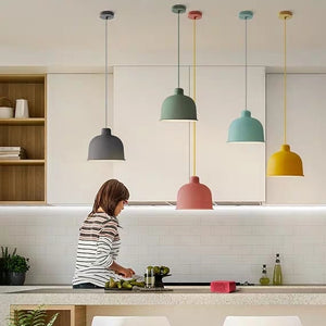 Macaroon Designer's Lamp Pendant Light Colorful Lights Ceiling Lamp Down light LED - heparts