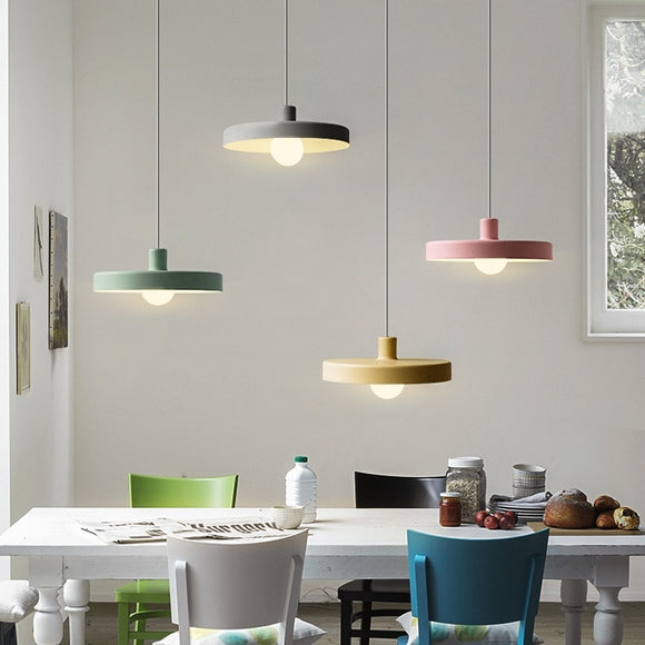Macaroon Disk Pendant Light Ceiling Lamp Down light E26/E27 Bulb Included 40W - heparts