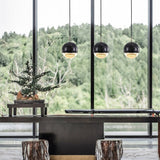 Marble Ball 10-16cm Crystal LED Chandelier Pendant Lighting Restaurant