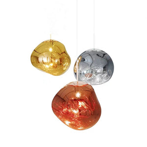 Melt Pendant Chrome Acrylic Lava Globe Glass Pendant Light Lamp Simple Modern E26E27 - heparts