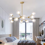 Modern 12-Head Sputnik Nordic Style Chandelier Glass Molecules Pendant Lights Ambient Light G9