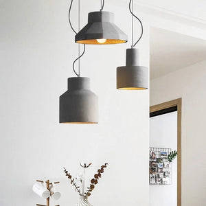 Modern Concrete Pendant Light, Vintage Industrial Cement Hanging Ceiling Chandelier downlight - heparts