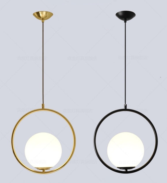 Modern Glass Pendant Light Ceiling Chandelier Hanging Lamp 1-Light Fixture Flush Mount