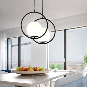 Modern Glass Pendant Light Ceiling Chandelier Hanging Lamp 1-Light Fixture Flush Mount - heparts