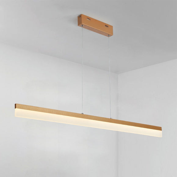 Modern Linear LED Pendant Light LED Integrated 100-240V Minimalism Aluminum - heparts
