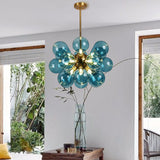 Modern Multiple Color Glass Pendant Light Creative Restaurant Lampshade Hanging Lighting G9 - heparts