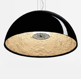 Modern Pendant Lamp 1 Light D40 D60 Skygarden Dome shape White or Black Dinning Living Office Light - heparts