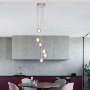 1-7 Lights Modern Pendant Light DC12V G4 Led Bulbs Included Crystal Suspension Lighting Stairs Dining Room Loft Light Lamp - heparts