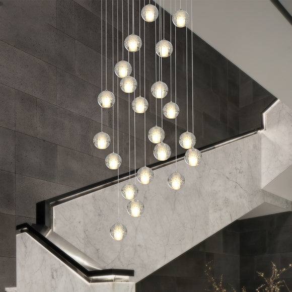 10-36 Lights Modern Pendant Light DC12V G4 Led Bulbs Included Crystal Suspension Lighting Stairs Dining Room Loft Light Lamp