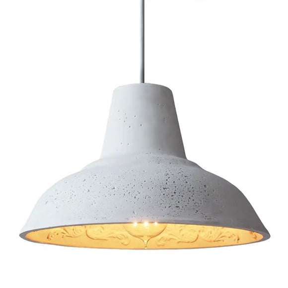 Modern Plates Concrete Pendant Light, Vintage Industrial Cement Hanging Ceiling Chandelier - heparts