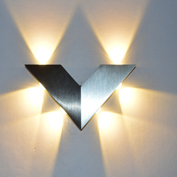 Modern Triangle 6W LED Wall Sconce LED Integrated - heparts