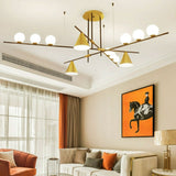 New 3/4/5-Lights Geometric Pendant Light Chandelier Ambient Light Electroplated Painted Metal E26E27& G9