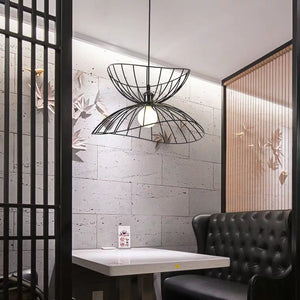 Nordic Straw Hat chandelier Restaurant Lighting Creative Personality Bar Model Room Loft Industrial