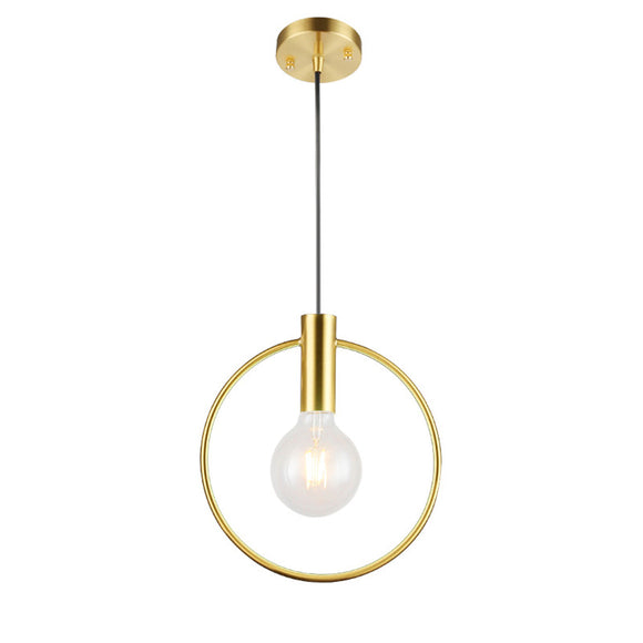 Northern Europe Modern Electroplated Pendant lighting Ceiling Mini Chandelier Hanging Lamp 1 Lights Fixture Flush Mount - heparts
