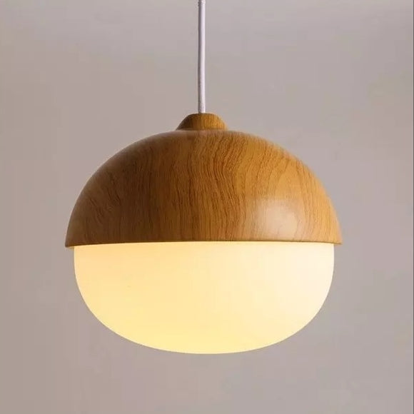 Northern Europe Style wood grain Glass Pendant Light Fixture