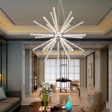 Novel Creative Design Iron Chandelier - Glowing Snowflake Droplight
