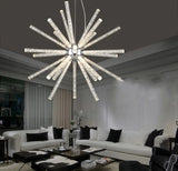 Novel Creative Design Iron Chandelier - Glowing Snowflake Droplight - heparts