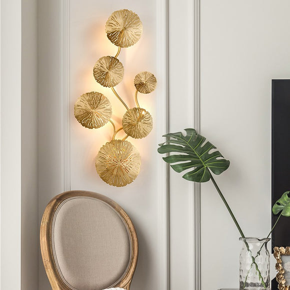 Lotus Leaves Solid Brass Sconce Wall Lights Vanity Lighting