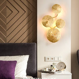 Lotus Leaves Solid Brass Sconce Wall Lights Vanity Lighting - heparts