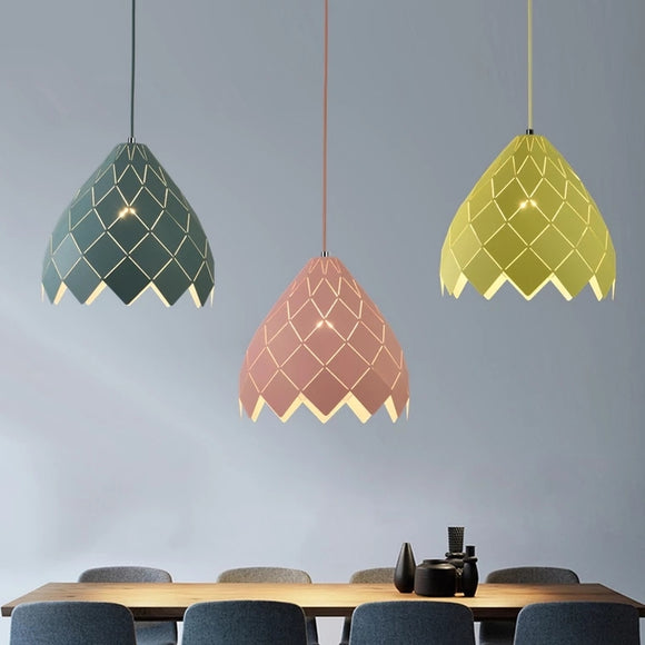 Macaroon Pendant Light Downlight Painted Finishes Metal Creative - heparts