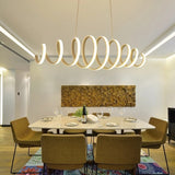 Postmodern Spiral Pendant Light Chandelier Lighting Ambient Light Dimmable Remote Control - heparts
