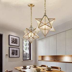 Pure Copper Diamond Light Ceiling&Pendant Chandelier Ambient Light Glass Candle Style E26/E27