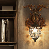 Retro Antler Mini Style Wall Lights & Sconces Ambient Light Home Decor American Village E14 - heparts