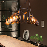 Retro Bar Iron Lamp Modern Minimalist Industrial Style Chandelier Pendant Light Edison - heparts