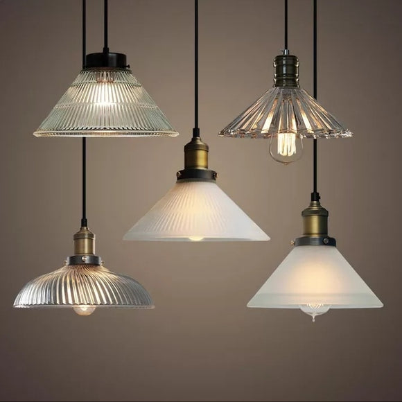 Retro Glass Pendant Light Designer's Lamp Simple Modern - heparts