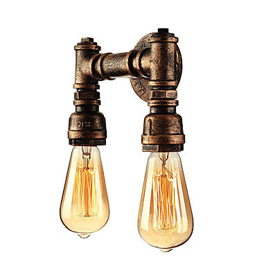 Retro Pipe Simple Vintage Wall Lamps & Sconces Metal 110-240V 60 W - heparts