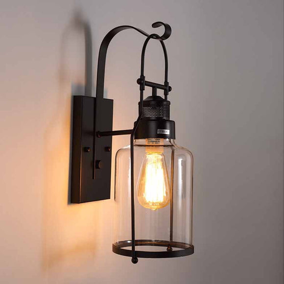 Rustic Lodge Wall Lamps & Sconces Metal Wall Light Edison bulb E26/E27 - heparts