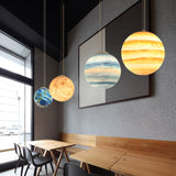 Planet/Star Pendant Lamp 3D Printing Ceiling Light E26/E27 LED Bulb Ceiling Light for Home, Office, Bars and Cafe - heparts