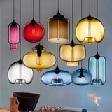 Various Color Cylinder Pendant Light Ambient Light - Mini Style, 110-240V Edison Bulb Included - heparts