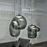 New Various Color Glass Cylinder Pendant Light Ambient Light - Mini Style, 110-240V - heparts
