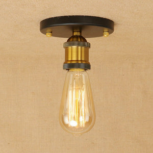 Vintage Loft Mini Metal Ceiling Lamp Flush Mount E26/E27 - heparts