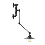 Water Pipe Wray Industrial Adjustable Swing Arm Wall Lamp Rich Metal Light
