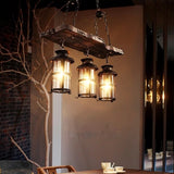 Wood Light Fixture Rustic Industrial Chandelier Bulbs Included - heparts