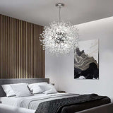 Modern Electroplated Globe Chandeliers Firework Led Vintage Pendant Lights G9 Bulb Base - heparts