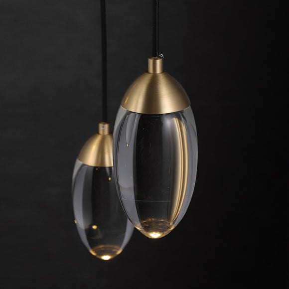 Modern Crystal ball LED Pendant lights Nordic Copper lighting bedroom bedside single head lights bar corridor small Hanging lamp
