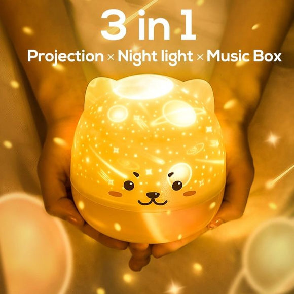 Star Projector Light Colorful Music LED Night Lights For Kids USB Charging/Rotatable/Sing Project lamp Bedroom Party