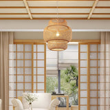 Modern bamboo hand woven bamboo Art Chandelier dining room bamboo lantern chandelier bedroom dining room lamp